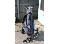 Golf bag and a selection of clubs - good condition; would suit beginner