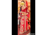 Indian Bridal gown with trail