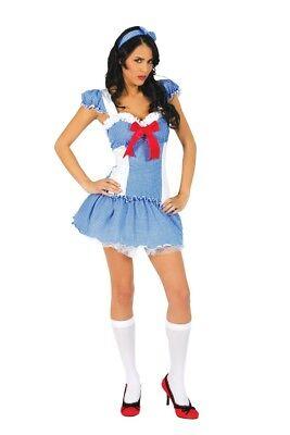 NEW! Wizard of Oz Dorothy Inspired Women Cosplay Costume Halloween Sexy XS](Dorothy Cosplay)