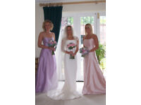 Bridesmaid dresses x 2 - pale pink and lilac