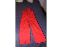 Child Reima salopettes, red, size 140