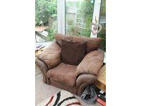 Cosy Corner Brown Sofa & Chair