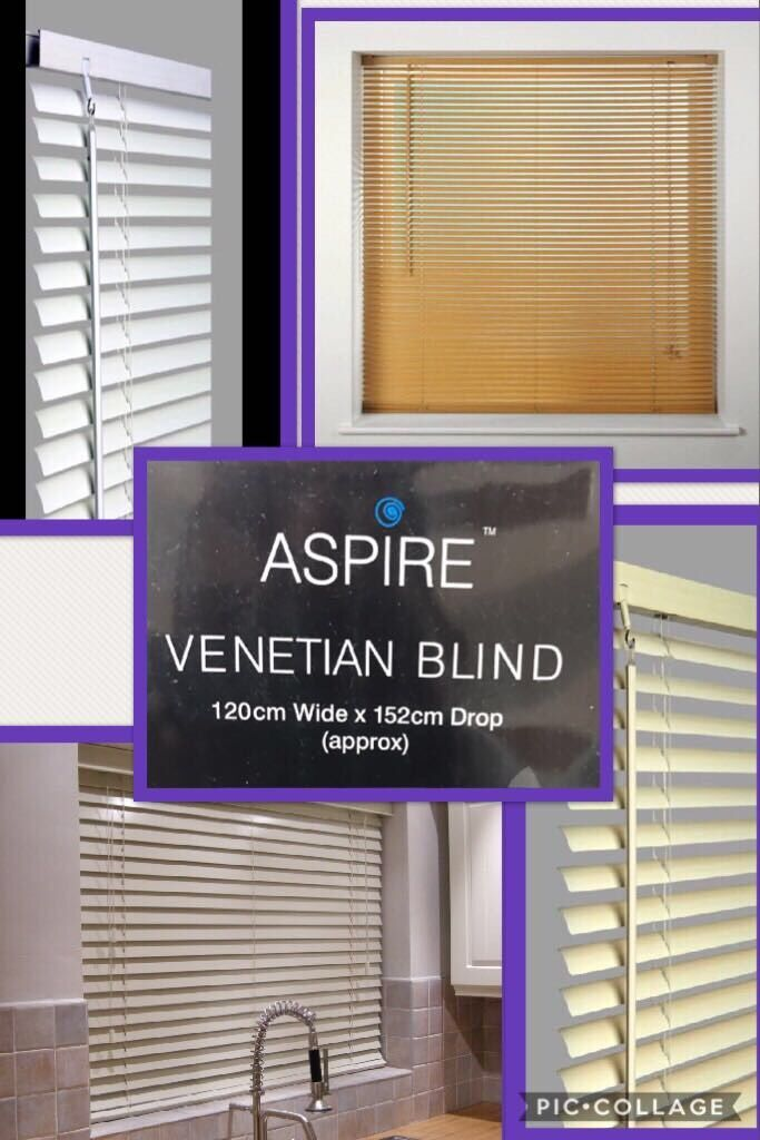 Brand New Job lot 100pcs Pvc Wood Grain Effect Venetian Blinds - white Cream and Natural £3.50