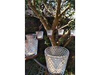 Tea light chandelier for glamping or garden or bell tent