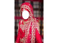 Stunning Asian Bridal Wedding Dress RRP £2100 Size 6-10