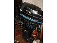 25hp 2stroke short shaft mercury outboard