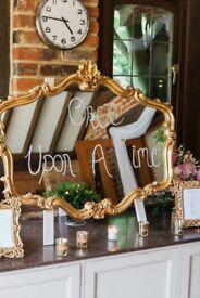 MIRROR & SIGN. **Wedding** BEAUTIFUL
