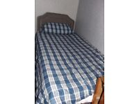 Single Bed with Mattress, Duvet and duvet cover
