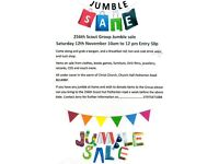 Jumble sale Saturday 12th November 10am to 12 midday