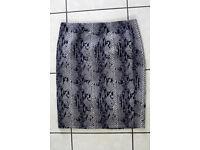Women's Tu Mini Skirt Snake Skin pattern size 14