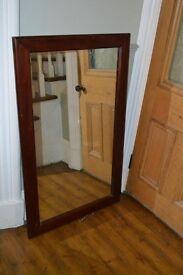 Victorian/vintage solid mahogany wood large mirror