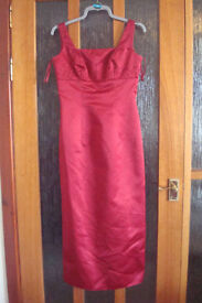 PETITE Red Bridesmaid dress, size 12