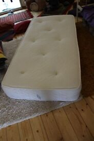 Single bed wooden frame with mattress