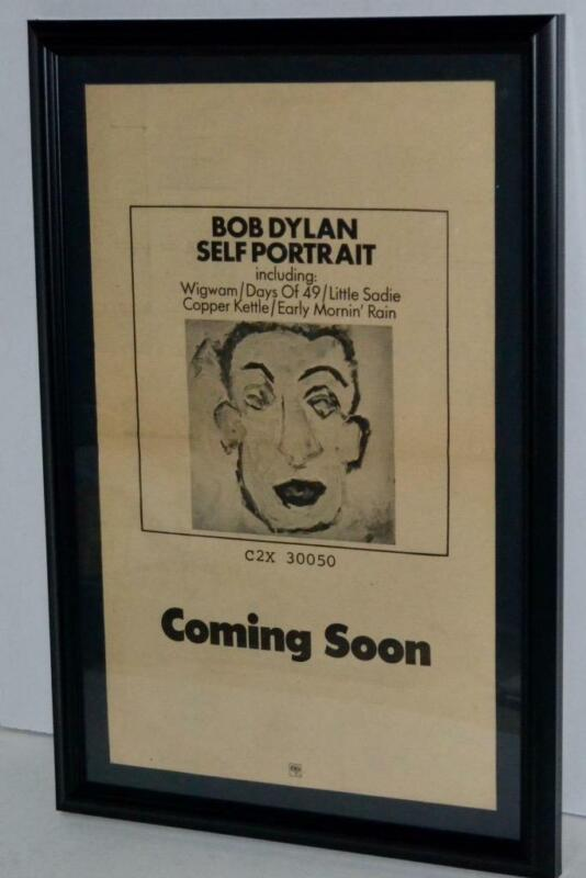 BOB DYLAN 1970 SELF PORTRAIT COMING SOON FRAMED PROMOTIONAL  POSTER / AD