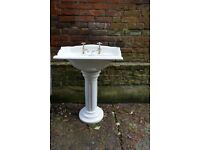 Victorian style wash basin and pedestal