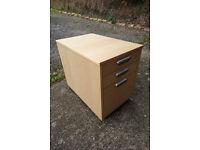Ikea Effektiv Desk Drawer Unit - Birch