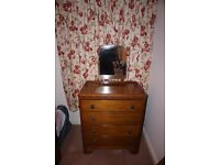 1960s or older wardrobe 4 chest draws free to collector