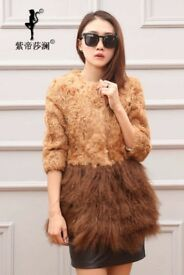 brand new real fur coat thick coat for bargain sale