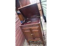 antique cabinet in wood needs repair