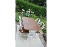 Oak Dining Table And Chairs Country/Farmhouse Style