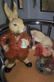 Two Rabbit Figurines by Sculptures