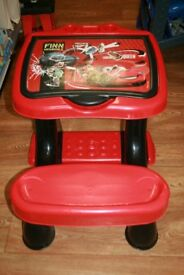Disney Cars Desk with lift up lid
