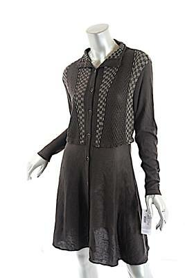 YOSHI YOSHI by PJ Espresso Lyocel Blend Button Down Knit Dress  Sz S  NWT  $439