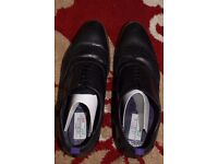 Black Leather Brogues, UK Size 8, Like New