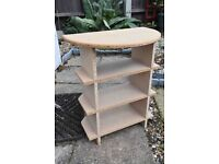 Pair of chipboard bedside display tables