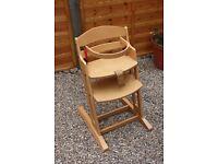 Baby Dan Wooden Highchair - Great condition.