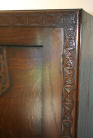 Vintage Wooden WARDROBE with beautiful carved design (CWS Birmingham); collect nr. Swansea Valley