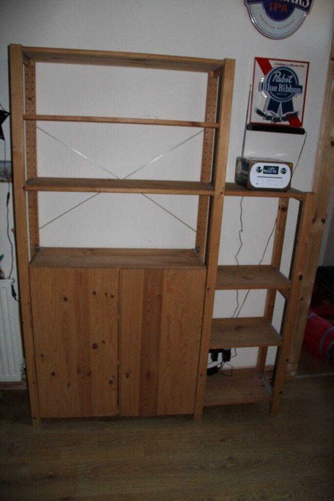 Ikea Ivar 2 Section Shelving Unit Shelves Cabinet Pine