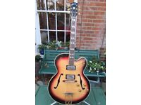 1958 Gibson es350t, refinished sunburst, original case & buyers receipt.