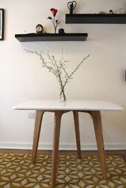 Fjord Rectangular Gateleg Table, Oak and White RRP £179