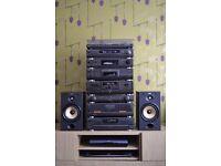 TECHNICS AMP CD TUNER TAPE EQ SH-GE90 TURNTABLE SPEAKERS HIFI RECORD PLAYER