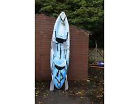 New RTM Ocean Duo Kayak Package - Kayak + Paddles + 2 Back Rests - 1,2 or 3 Person - Sit-On-Top