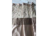 CURTAINS, LINED, EYELET TOP 90 x 90