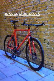 Special Offer GOKU CYCLES Steel Frame Single speed road bike TRACK bike fixed gear fixie bike u1