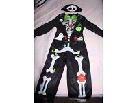 Halloween Sainsburys Skeleton Costume - age 1-2 years