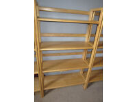 John Lewis Folding Bookcases, Three Available