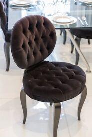 Black Velvet Dining Chairs - Quick Sale