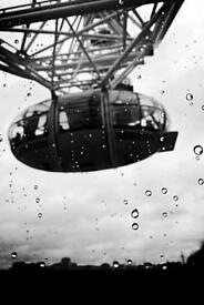 Framed photograph of London Eye Capsule