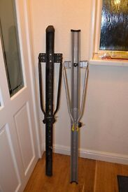 Two bicycle carriers racks to fit narrow roof bars.