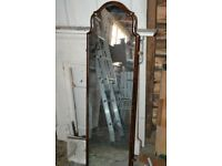 Nice wooden hall mirror full length