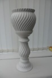 White Jardiniere, with or without flower display
