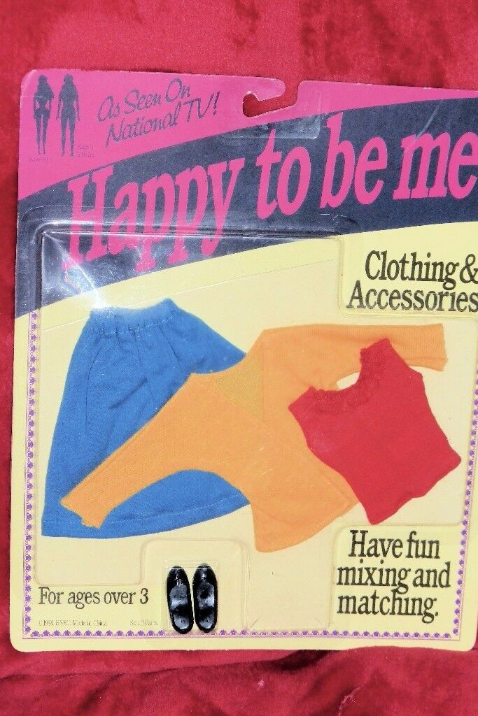 Happy To Be Me Doll's Clothes including Shoes, Still in Packet, Histon