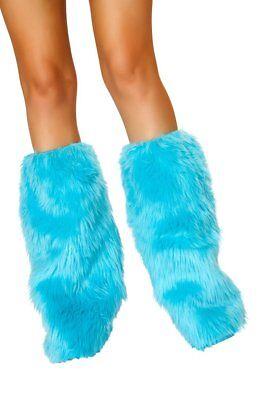 Beinstulpen Pelzimitat türkis blau Beinlinge extra flauschig Made in USA