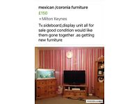 Mexican furniture .tv,sideboard and display units .would like them to go together