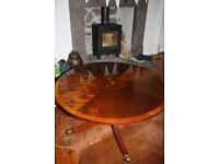 Price Reduced Beautiful Wood Inlay Coffee Table
