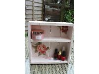 shelving decorative hand made, various finishes, 30x30x8cm
